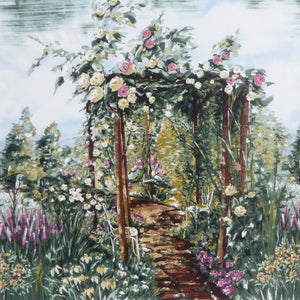 Walk through a rose arbor cotton fabric available from Colorado Creatioins Quilting