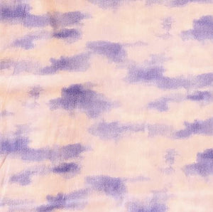 Sky, Periwinkle Blue with Coral-colored Clouds cotton fabric available at Colorado Creations Quilting