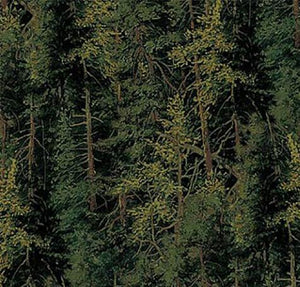 Packed evergreen trees cotton fabric available at Colorado Creations Quilting