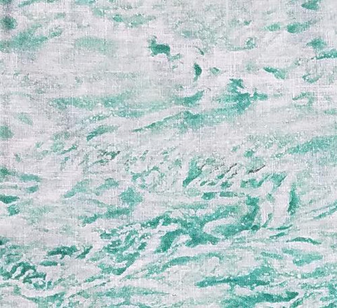 This detailed sea foam green water features white-capped crashing waves. Available at Colorado Creations Quilting
