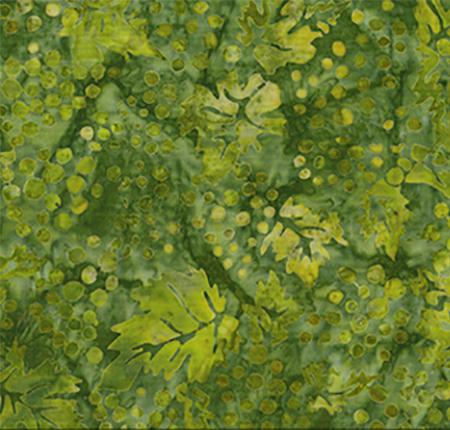 This cotton fabric in green features grapes and leaves available at Colorado Creations Quilting