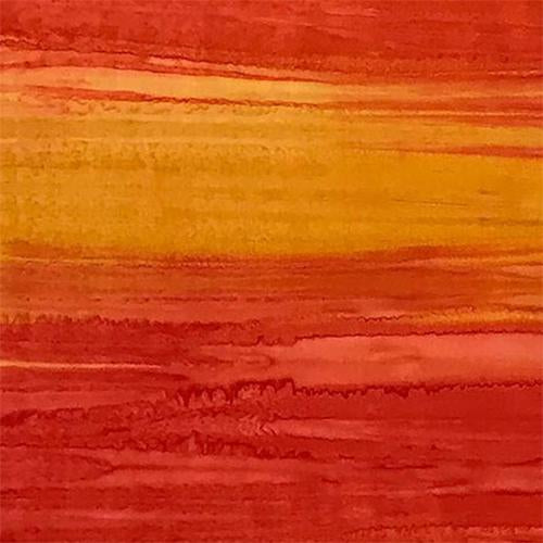 Striated (striped) Orange and Yellow Batik Cotton Fabric available at Colorado Creations Quilting