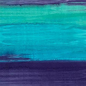 Striated (striped) Teal and Purple Batik Cotton Fabric available at Colorado Creations Quilting