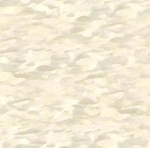 This cotton fabric features cream water patterns. Available at Colorado Creations Quilting