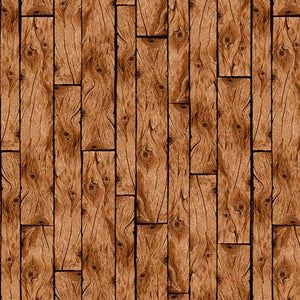 Wooden Planks Brown Cotton Fabric by Quilting Treasures