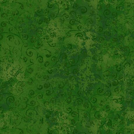 Forest Green Tonal Cotton Fabric by Quilting Treasures