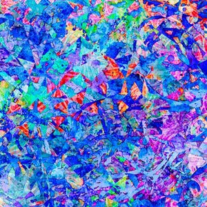 This royal blue abstract fabric has hints red and purple too. Available at Colorado Creations Quilting