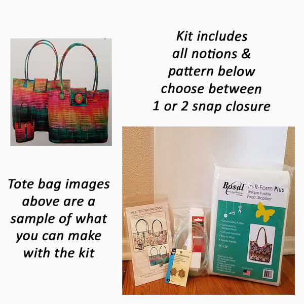 Image of various notions needed to make Aunties Two Rockport Tote handbag.  Available at Colorado Creations Quilting