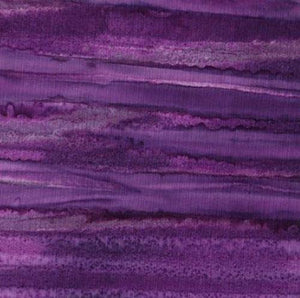 Striated (striped) Purple Batik Cotton Fabric
