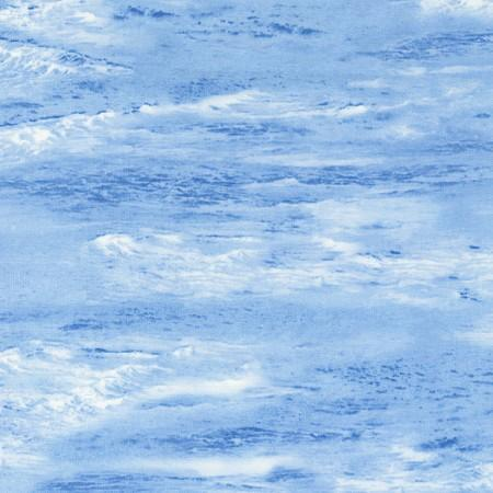 Images of blue ocean with white-capped waves.  Fabric available at Colorado Creations Quilting.