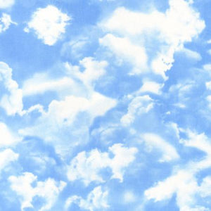 Light Blue Sky with Big Puffy Clouds