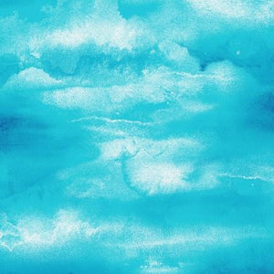 Sky Rich Blue with Large White Clouds cotton fabric available at Colorado Creations Quilting