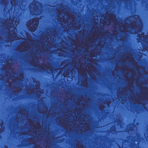 Cobalt Blue Tonal Fabric
