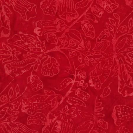 A great cherry red tonal fabric featuring blooming flowers. Available at Colorado Creations Quilting