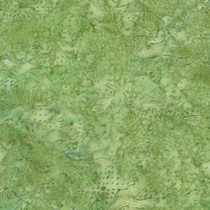 A green tonal fabric featuring  geometric shapes and dots. Available at Colorado Creations Quilting