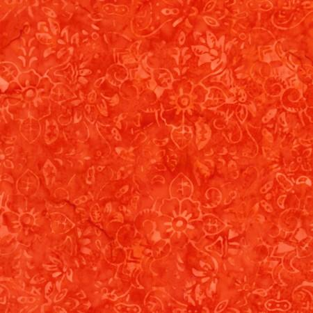 A great orange tonal fabric featuring blooming flowers. Available at Colorado Creations Quilting