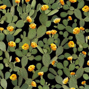 Prickly Pear Cactus cotton fabric is available at Colorado Creations Quilting
