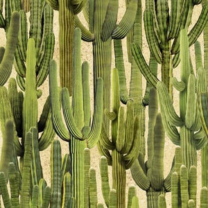 Packed green Saguaro Cactus fabric available at Colorado Creations Quilting