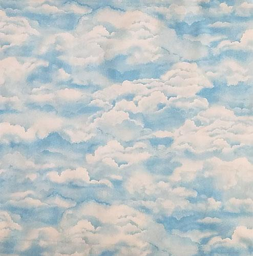 Light blue sky with large white clouds