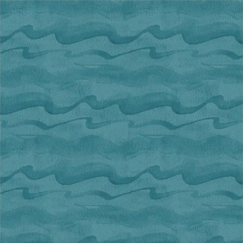 Dark Blue Waves Cotton Fabric by Windham Fabrics