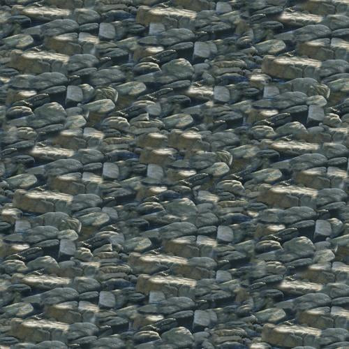 gray small packed rocks/boulders cotton fabric available at Colorado Creations Quilting