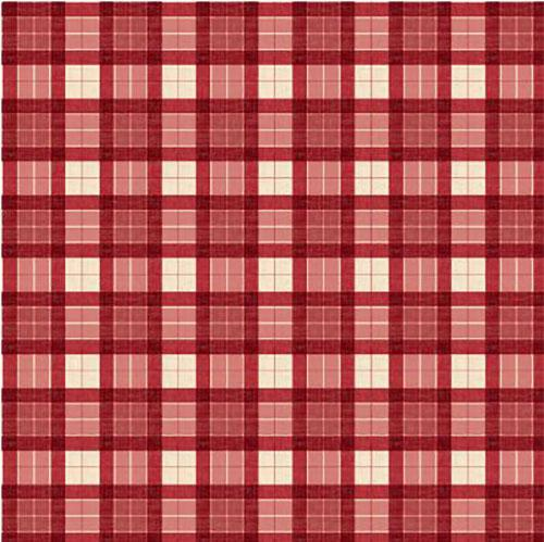 This cotton fabric features red and cream plaid. It will definitely give you that country feel. Available at Colorado Creations Quilting