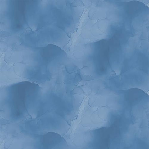 Rich Blue Cotton Fabric by Wilmington Prints