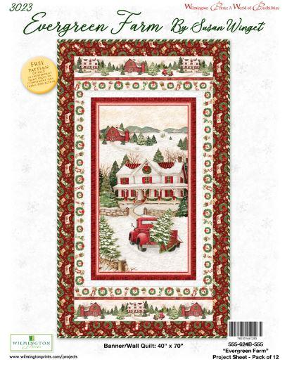 Evergreen Farm Cotton Fabric Panel