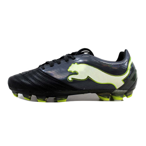 Puma Powercat 1.12 FG Black/Dark Shadow-White-Lime Punch 102470-02 Men's