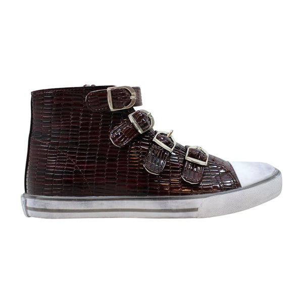 Amiana 4 Buckle Hi Burgundy Tile Pat  15/A5172-Bur Women's