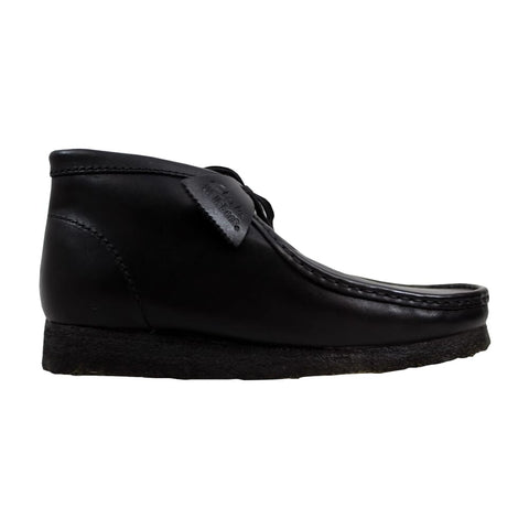 Clarks Wallabee Boot Black Leather  26103666 Men's