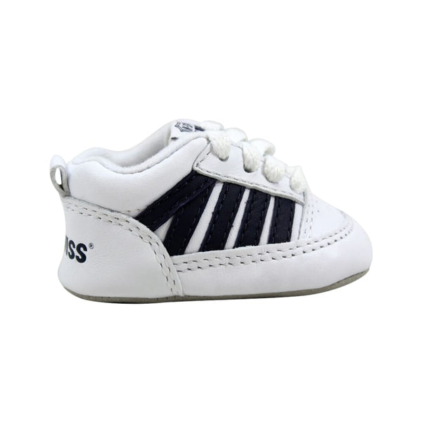 K Swiss Crib 5 Stripe White/Navy 2611109 Toddler