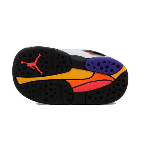 Nike Air Jordan VIII 8 Retro BT White/Infrared 23-Black-Bright Concord  305360-142 Toddler