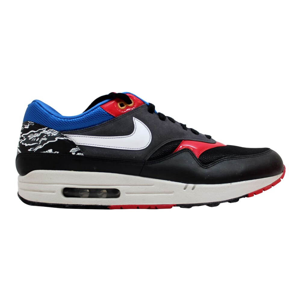 Nike Air Max 1 Black/White-Varsity Red-Varsity Royal Friendly Football Pack 308866-011 Men's