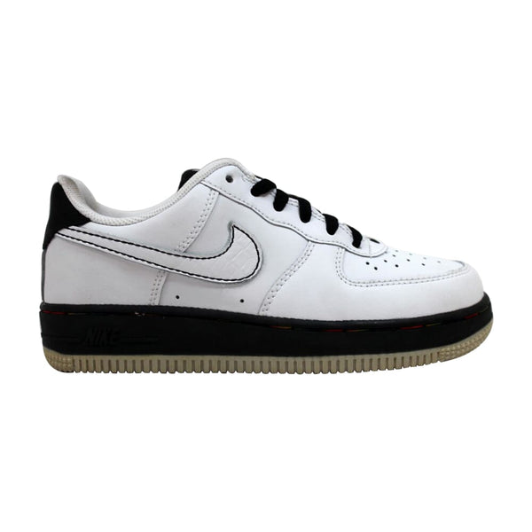 Nike Force 1 White/White-Black-Metallic Silver  314193-114 Pre-School