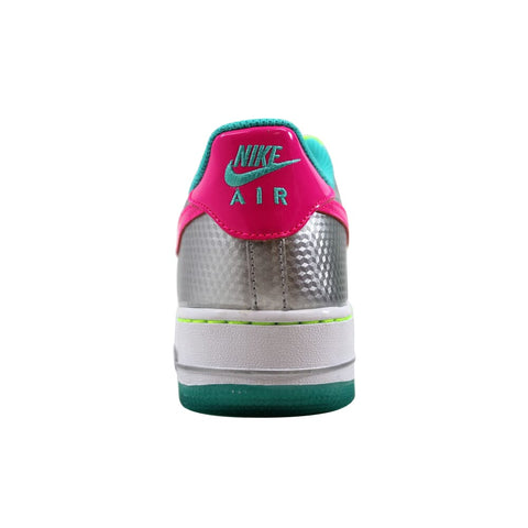 Nike Air Force 1 Metallic Silver/Hyper Pink-Hyper Jade 314219-011 Grade-School
