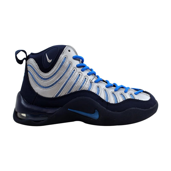 Nike Air Bakin' Midnight Navy/Metallic Silver-Photo Blue 316759-400 Grade-School