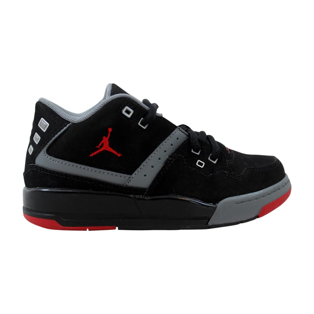 Nike Air Jordan Flight 23 BP Black/Gym Red-Cool Grey-White  317822-021 Pre-School