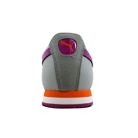 Puma Roma Flower Jr Gray/Wild Aster-Carrot 354299 06 Grade-School