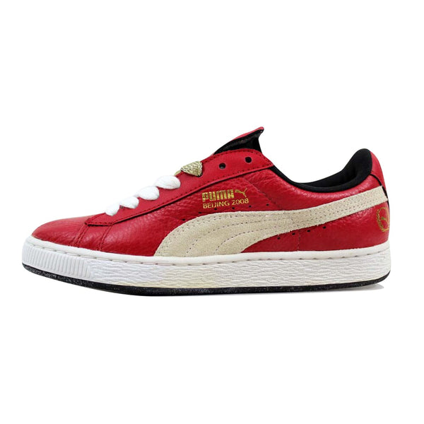 Puma Basket Classic Games Beijing Ribbon Red/White-Black 354358-01 Men's