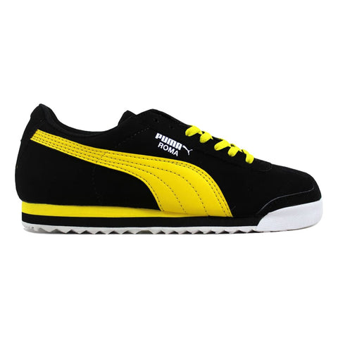 Puma Roma SL NBK JR Black/Vibrant Yellow-White 356349 04 Grade-School