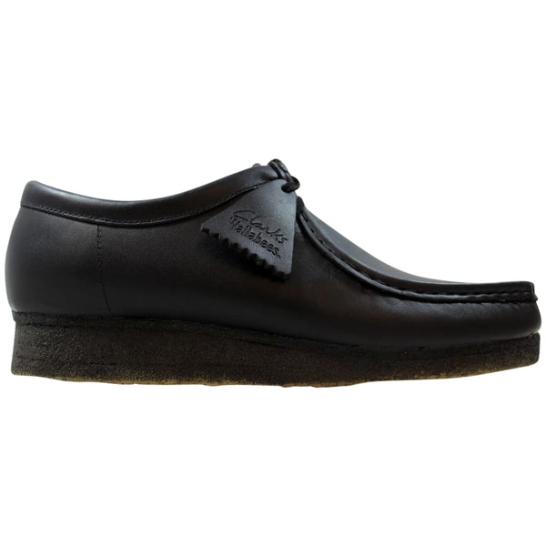 Clarks Wallabee-M Black Leather  37981 Men's