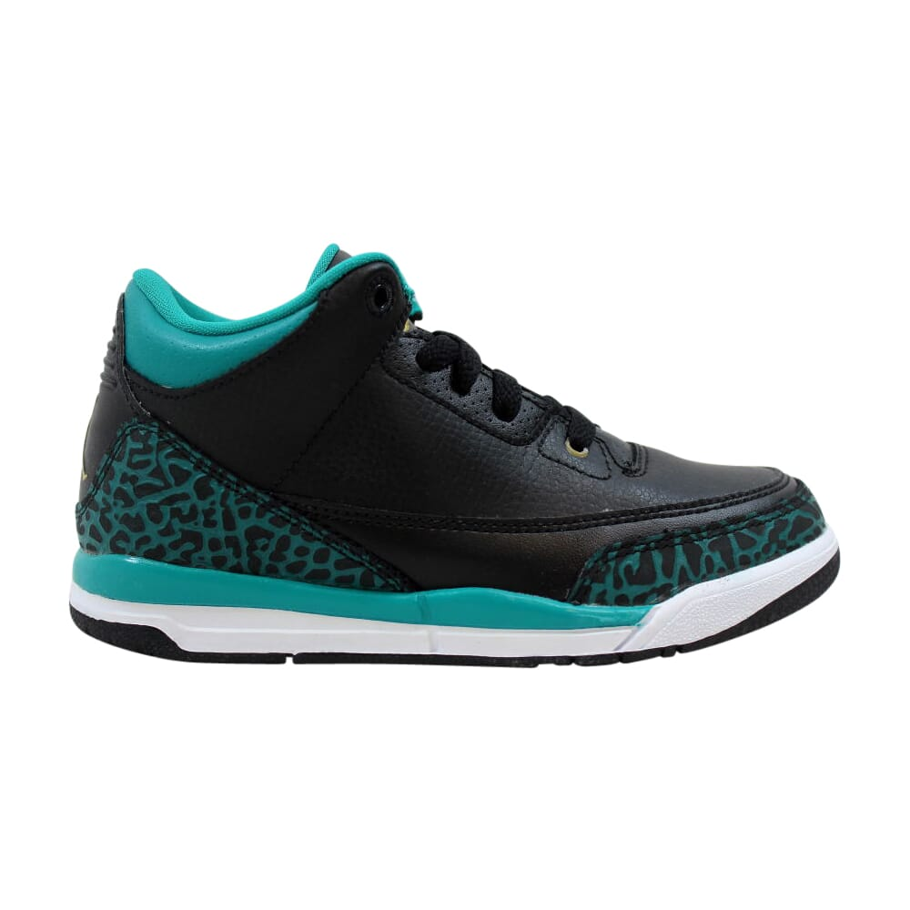 Nike Air Jordan III 3 Retro GP Black/Metallic Gold-Rio Teal  441141-018 Pre-School