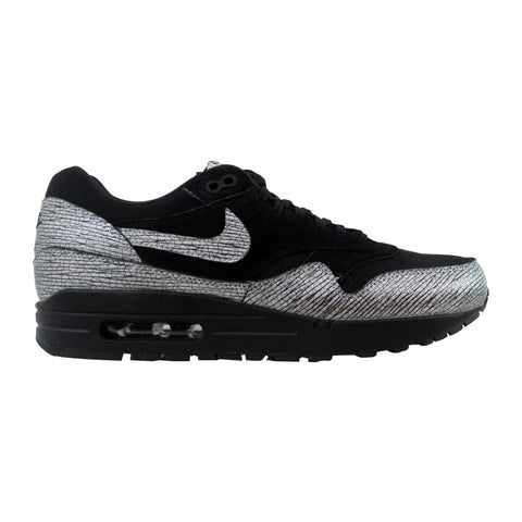 Nike Air Max 1 Premium Black/Metallic Hematite-Black 454746-005 Women's