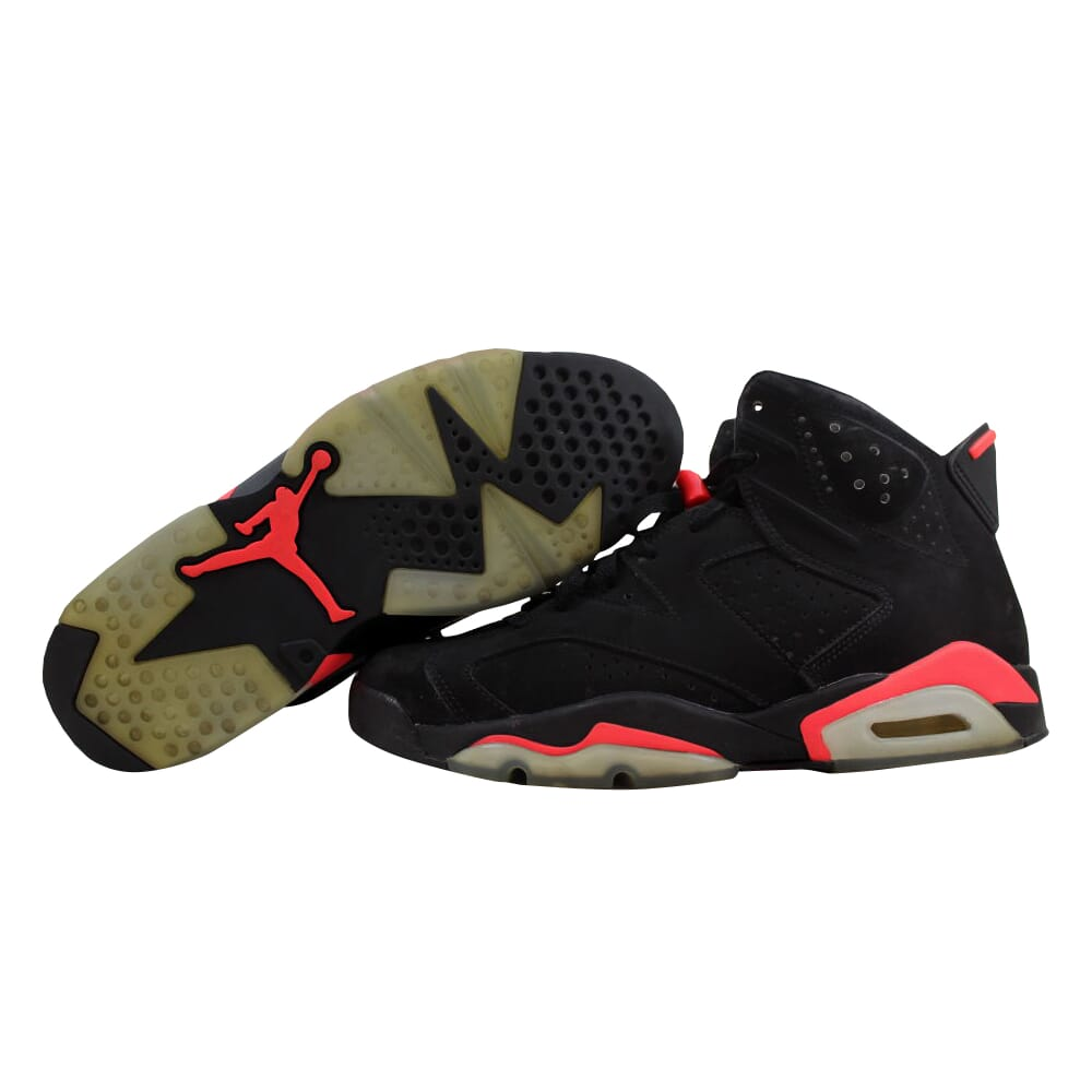 Nike Air Jordan VI 6 Retro Black/Infared 23-Black Infraed 384664-023 Men's