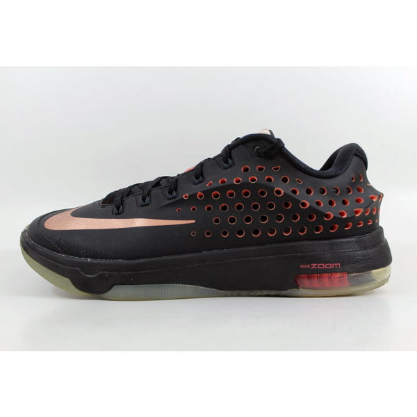 Nike KD VII 7 Elite Black/Metallic Red Bronze-Classic Charcoal Kevin Durant Rose Gold 724349-090 Men's