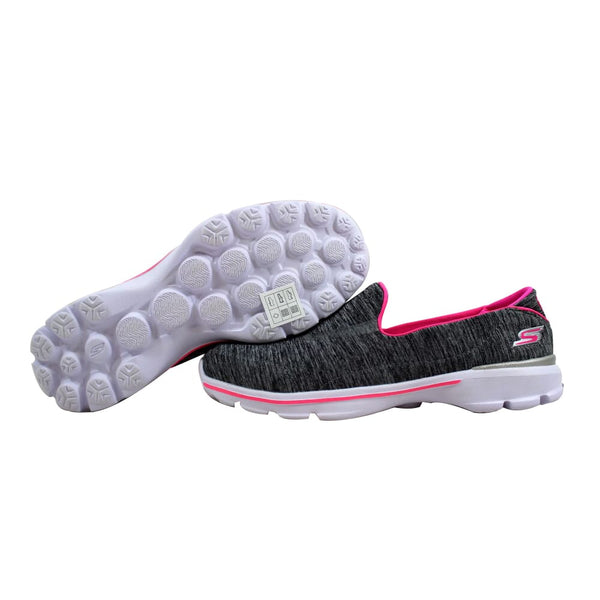 Skechers Go Walk 3 Reboot Loafer Grey/Pink Loafer Grade-School