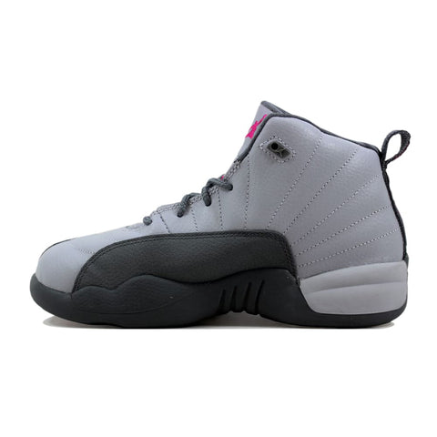 Nike Air Jordan XII 12 Retro GP Wolf Grey/Vivid Pink-Cool Grey 510816-029 Pre-School