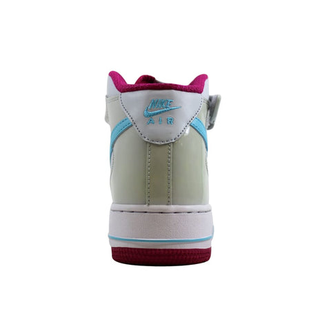 Nike Air Force 1 Mid Pure Platinum/Blue-Fuchsia 518218-005 Grade-School