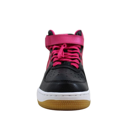 Nike Air Force I 1 Mid Black/Vivid Pink-White 518218-016 Grade-School
